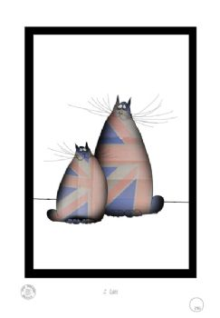 2 Shabby Chic British Cats